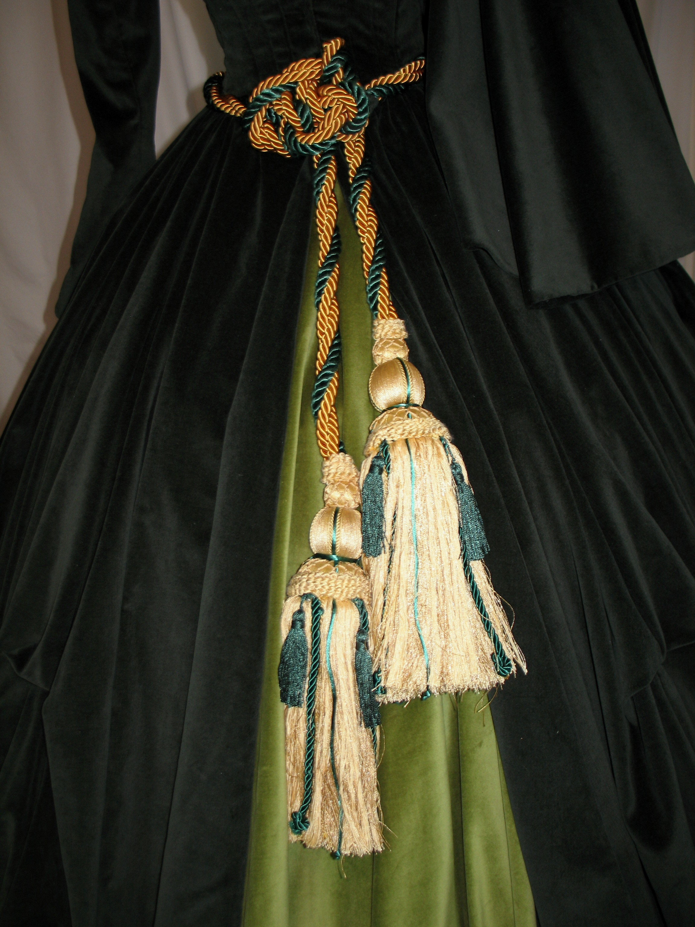 curtain dress tassels