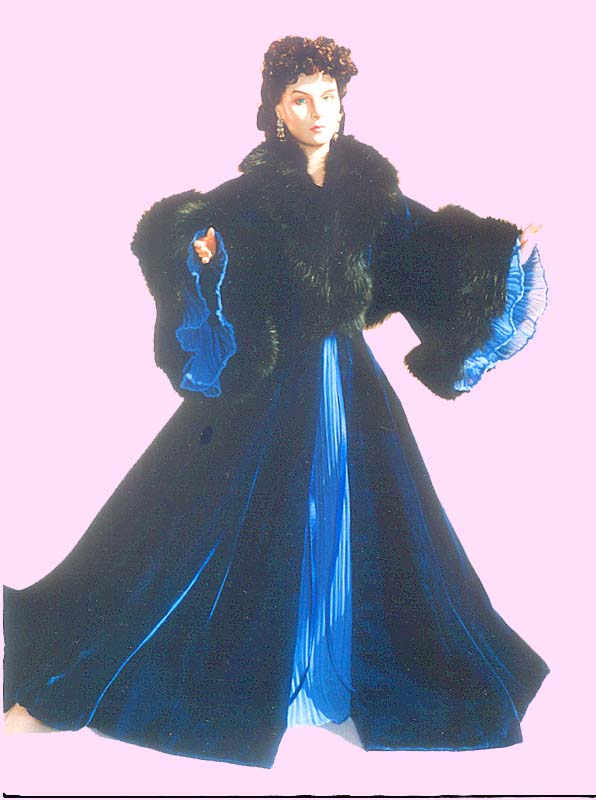 Fully Lined Robe With Back Bustle Amp Removable Cape Fur