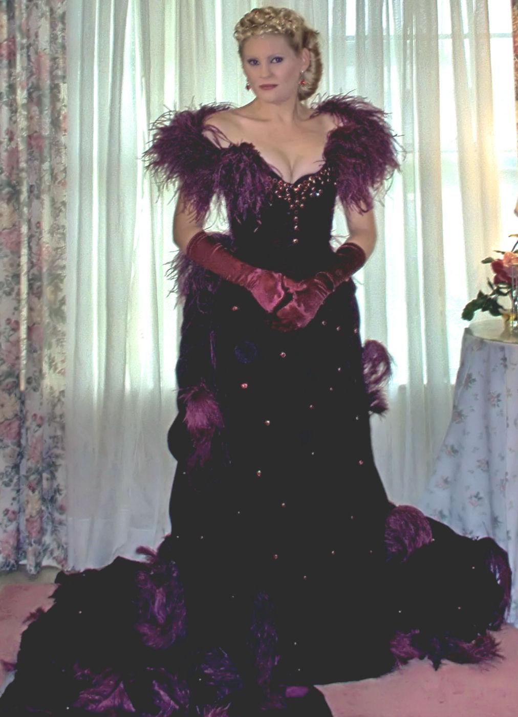 Burgundy Velvet Dress For A Fall Wedding her burgundy velvet dress