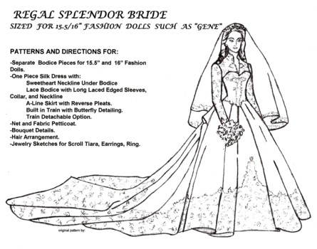 Princess Catherine Wedding Gown Pattern
